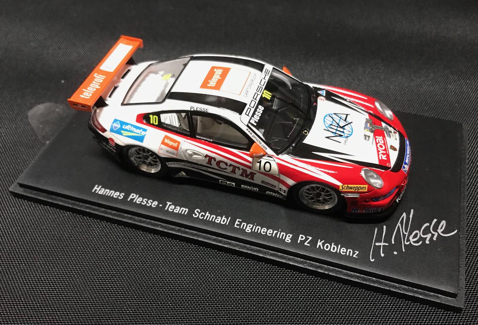 Porsche 911 gt3 CUP Nº 10  voiturerera Cup 2008 PZ Koblenz Plesse daté 1 43  magasin discount