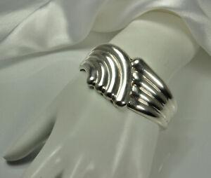 Vintage-LOS-BALLESTEROS-TAXCO-Bracelet-39g-STERLING-Silver-Modernist-Cuff-FAB