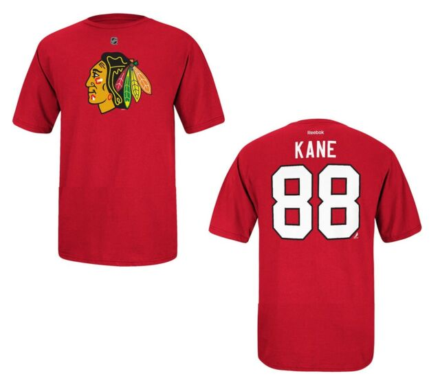 cb5fe8b1e29 Chicago Blackhawks Patrick Kane Reebok NHL Player T Shirt Men Red ...
