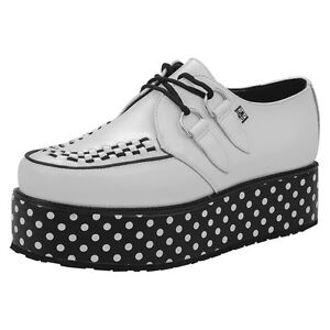 k Tuk Dot Creepers Mondo A8637 White Black T Rare Polk u Shoes Viva Punk Double SwqxR5