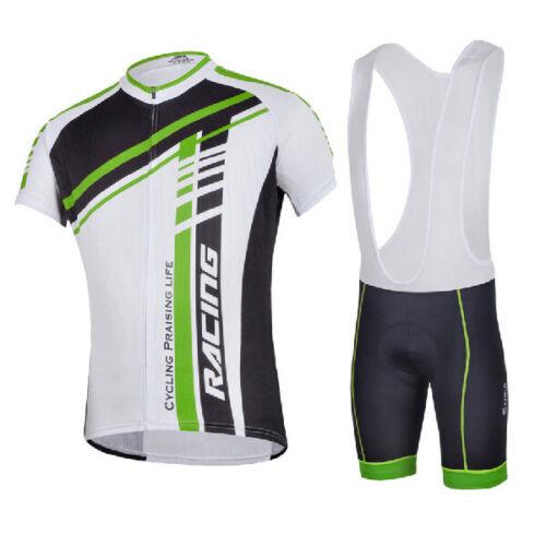 Men Bike Jersey /& Bib Shorts Sets Professional Cycling Clothing Moisture Wicking