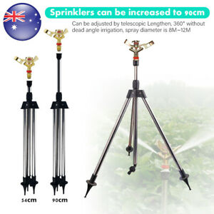 Garden-Water-Pulsator-Sprinkler-Lawn-Watering-Tripod-Stand-Irrigation-Sprayer-AU