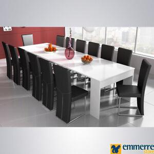 Tavolo In Offerta Consolle Allungabile C 4 Prolunghe Bianco Opaco L50 P90 H75 Cm Ebay