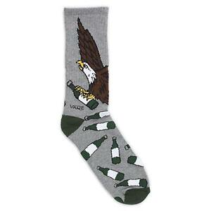 659ad487f9 Vans Off The Wall Eagle Beer Bottle Crew Socks Mens Gray Cotton ...