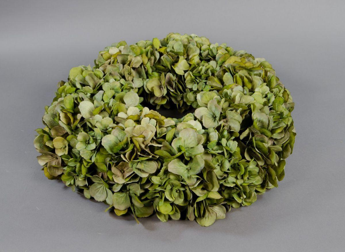 Hortensienkranz 48cm grün CG künstlicher Kranz künstliche Hortensien