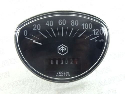 VESPA SPEEDOMETER 0-120 KMPH PRIMAVERA BLACK BRAND NEW RALLY