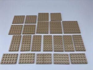 Lego 10 X Mini Figure plaques de base planches bandes