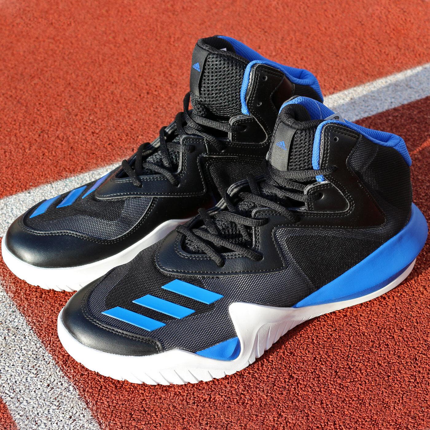 Adidas Crazy Team BB8253 Baloncesto Zapatos Hombre Negro Azul gris blancoo luz de rebote