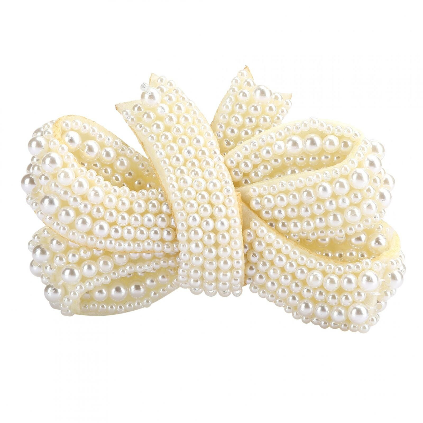 Pearl Bows Clothing Accessories Fashionable Delicate High Quality For Decoration