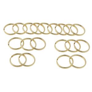 20pcs Keyring Blanks Brass Key Chain Findings Split Rings Jewelry Craft 10mm