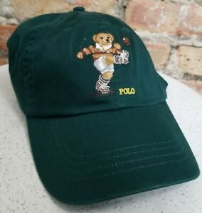 6ea7913d9 Details about POLO Ralph Lauren Men's RUGBY BEAR Cotton Hat Baseball Cap  Adjustable Strap NWT