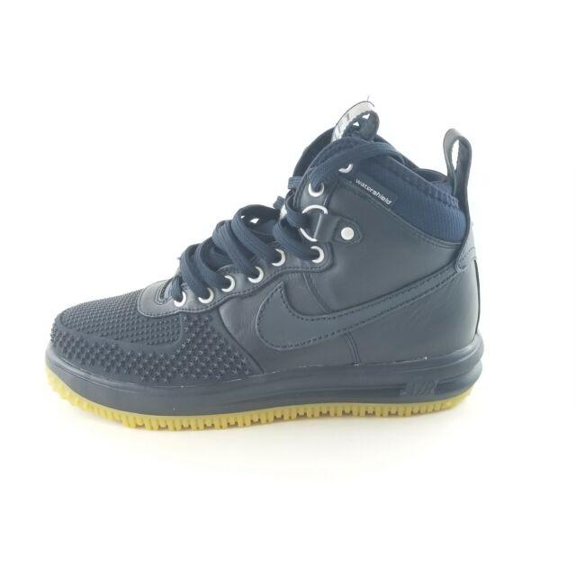 Nike Mens Lunar Force 1 Sz 9 Obsidian Blue gum bottom Duckboot shoes 805899- 400 d44d37a2f