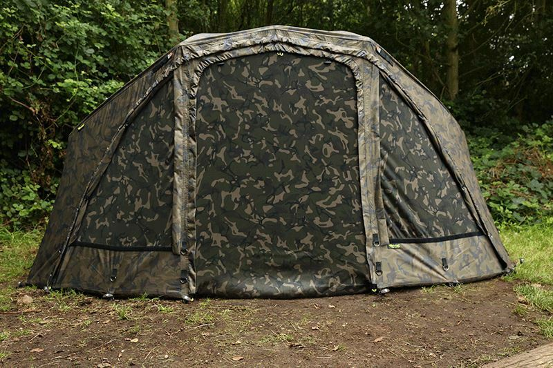Fox Ultra 60 Brolly System 60in Camo   Ventec Rip Stop   Carp Fishing