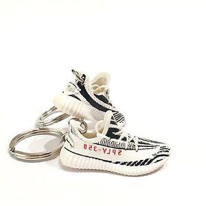 14fb0d97805ac madxo   art toy 3D mini sneaker keychain adidas YEE ZY 350 zebra V2 ...