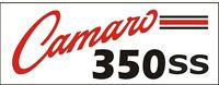 C043 Camaro 350 Ss Chevy Chevrolet Muscle Car Vehicle Hot Rod Banner