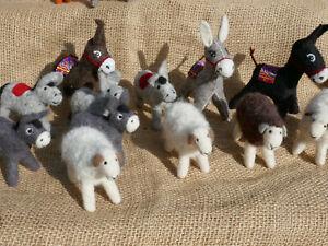 Filz Puppe Esel Schaf Handarbeit Merino Schafwolle Kirgisien NationaleKunstpuppe