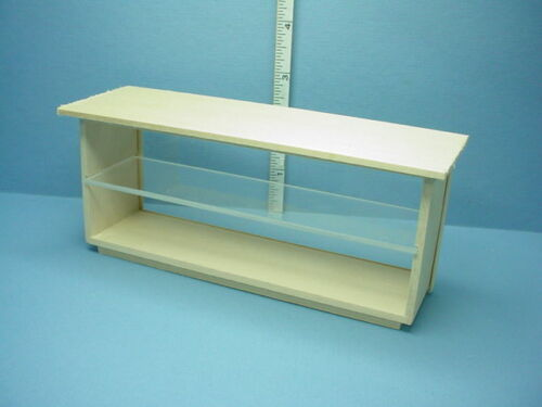 Dollhouse Miniature Store Counter-Wood Top /&Plexi  Front #525 M /& M Spec 1//12th