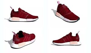 319f1970fdb99 ... official image is loading adidas nmd r1 w collegiate burgundy clear  orange 45070 008d7