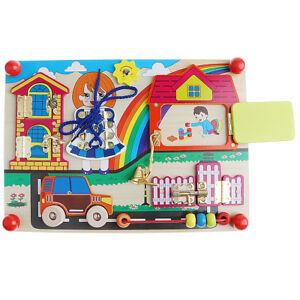 Baby-Lock-Latche-Board-Sensory-Basic-Skill-Learning-Bead-Game-Montessori-Toy