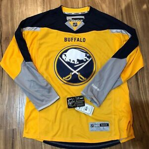 Image is loading Reebok-Authentic-NHL-Jersey-Buffalo-Sabres-Team-Yellow- 2695b3066