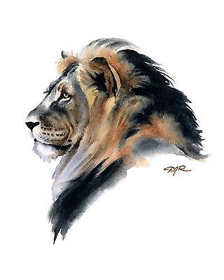 Heir Apparent by Lindsay Scott Art Print Poster Lion Wildlife Hunt Decor 13x19