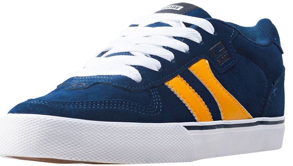 Globe Encore 2 Navy Gold Suede Uomo Skate Trainers Trainers Skate Shoes Stivali cdbb60
