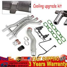 4PCS fit Porsche Cayenne Turbo S 03-06 4.5l V8 Coolant Pipe Repair Upgrade