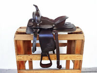 10 Classic Brown Western Cowboy Leather Trail Horse Pony Youth Saddle Tack