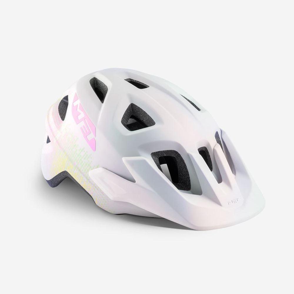 Mountain Bike Youth Cycle Helmet MET Eldar White Texture Matt UN 52 57 cm