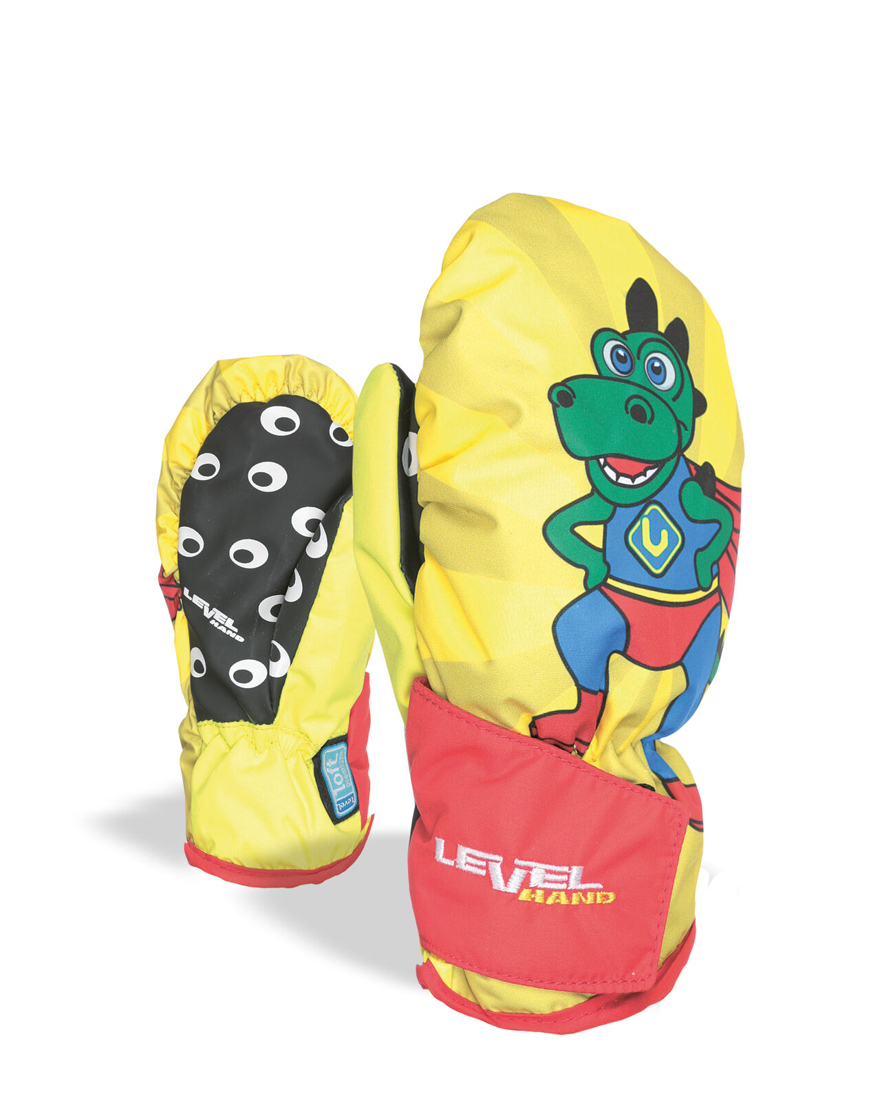 Level Guantes Animal yellow Impermeable Transpirable Cálidos