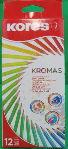Kores Kromas Dreikant-Buntstifte 12er Karton-Etui