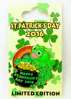 Disney Pin HAPPY ST PATRICK'S Day 2016 Pascal from Tangled Limited Edition