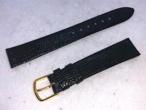 Vintage-JB-Champion-11-16-Reg-17mm-Black-Lizard-Calf-Leather-Watch-Bands-440