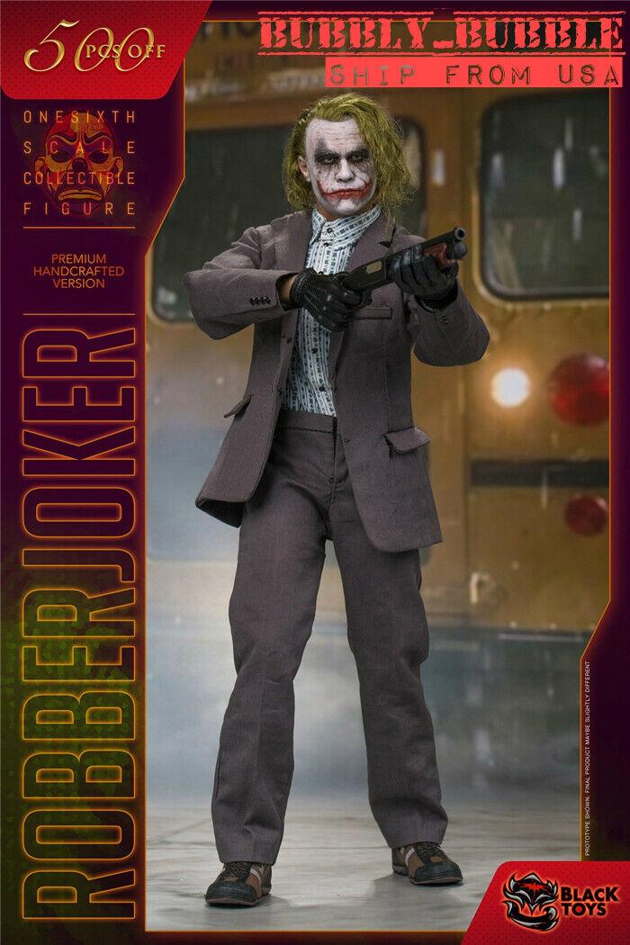1 6 Joker Heath Ledger BATMAN THE DARK KNIGHT Figura Full Set  USA IN STOCK