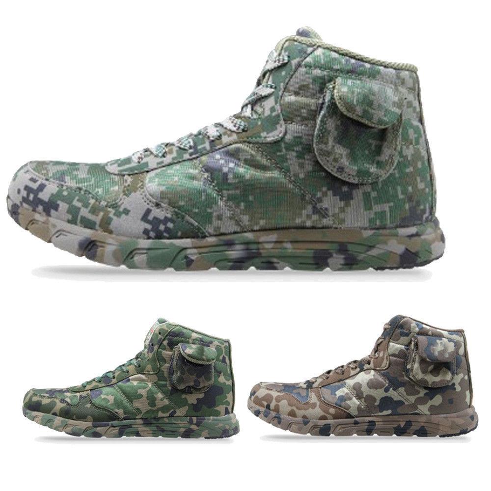 cfbc8546bb4f5 Men camo ankle athletic boots lace up combat Hiking Outdoor Jogging sport  shoes - snoringmouthpiecereviews.info
