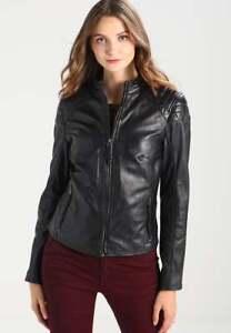 Leather sk93 Custom Jacket New Lambskin Women's Designer Made Biker Genuine wzxxXZ1dq