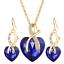 Women-Heart-Pendant-Choker-Chain-Crystal-Rhinestone-Necklace-Earring-Jewelry-Set thumbnail 38