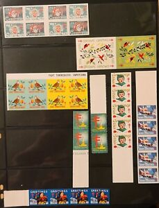 Assorted US Christmas Seal Proofs Charity Stamps Red Cross all MNH WX88//WX233