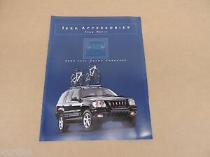 Image Is Loading 2002 Jeep Grand Cherokee Accessories Brochure Dealer Literature