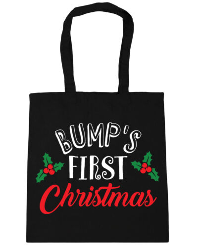 Bump/'s First Christmas Tote Shopping Gym Beach Bag 42cm x38cm 10 litres