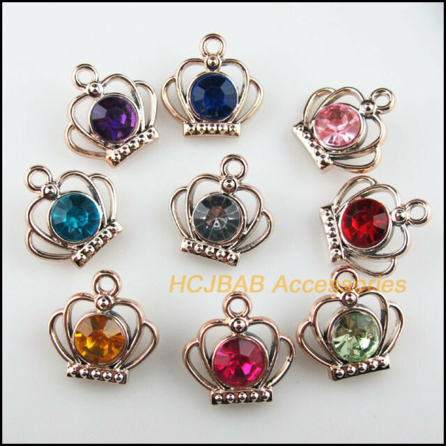 8 New Charms Mixed Acrylic Flatback Flower Connectors Tibetan Silver Tone 18mm