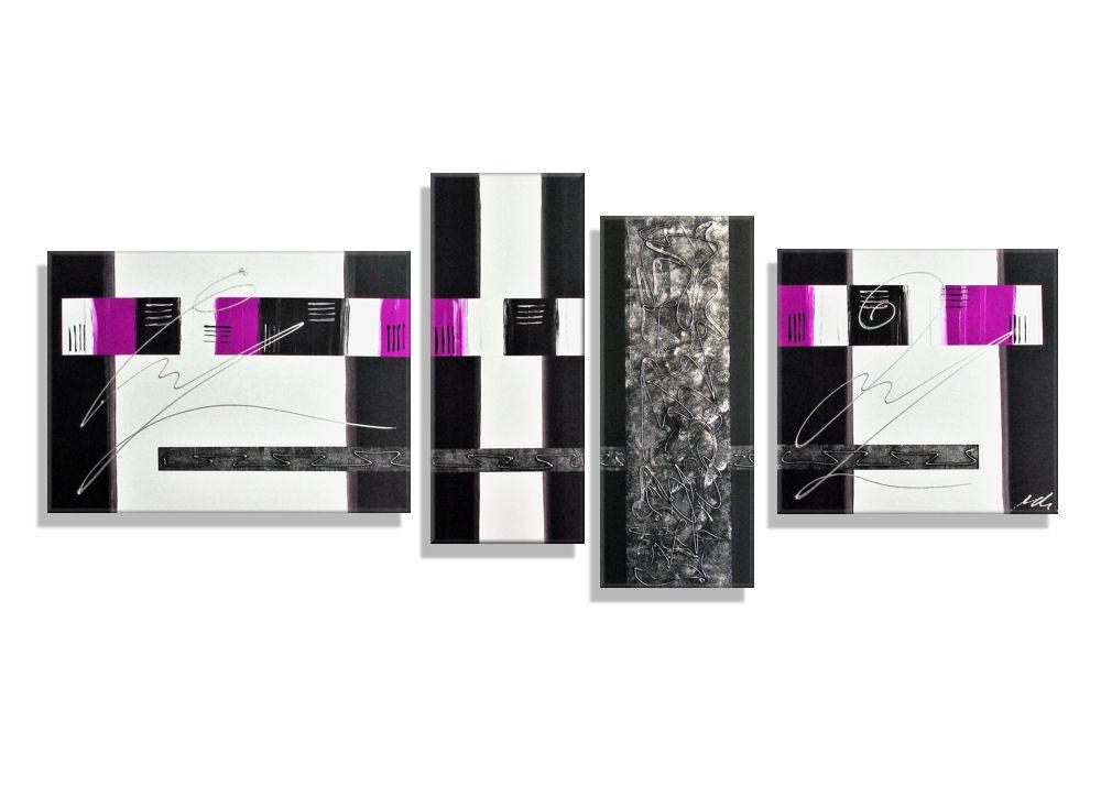 Mk1 Art Image toile abstrait tableau art peinture acrylique images images acrylique Magenta xxl 9b1347