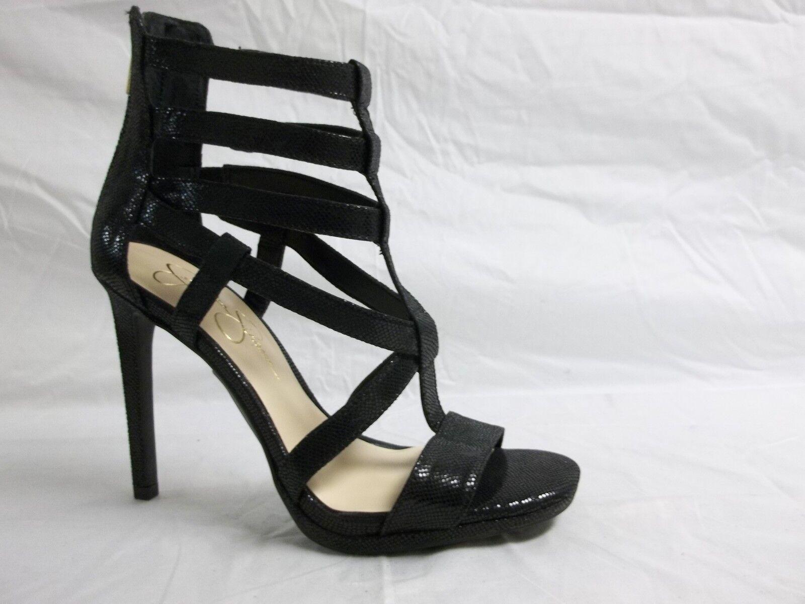 Jessica Simpson Size 6.5 M Marthena Nero New Open Toe Heels New Nero Donna Shoes NWOB 46672f