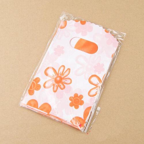 sale 100pcs Mixed Pattern Plastic Gift Bag Shopping Bag 14X9CM SWT