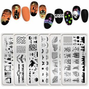 BORN-PRETTY-Nail-Stamping-Plates-Ghost-Nail-Art-Image-Stencil-Halloween-Design