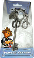 Kingdom Hearts Sora Keyblade Metal Key Chain Pewter Keyring Official Product