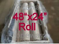 48x 24 - 60 Mesh/ 250 Micron Mesh Roll Stainless Steel 60x60 Wire
