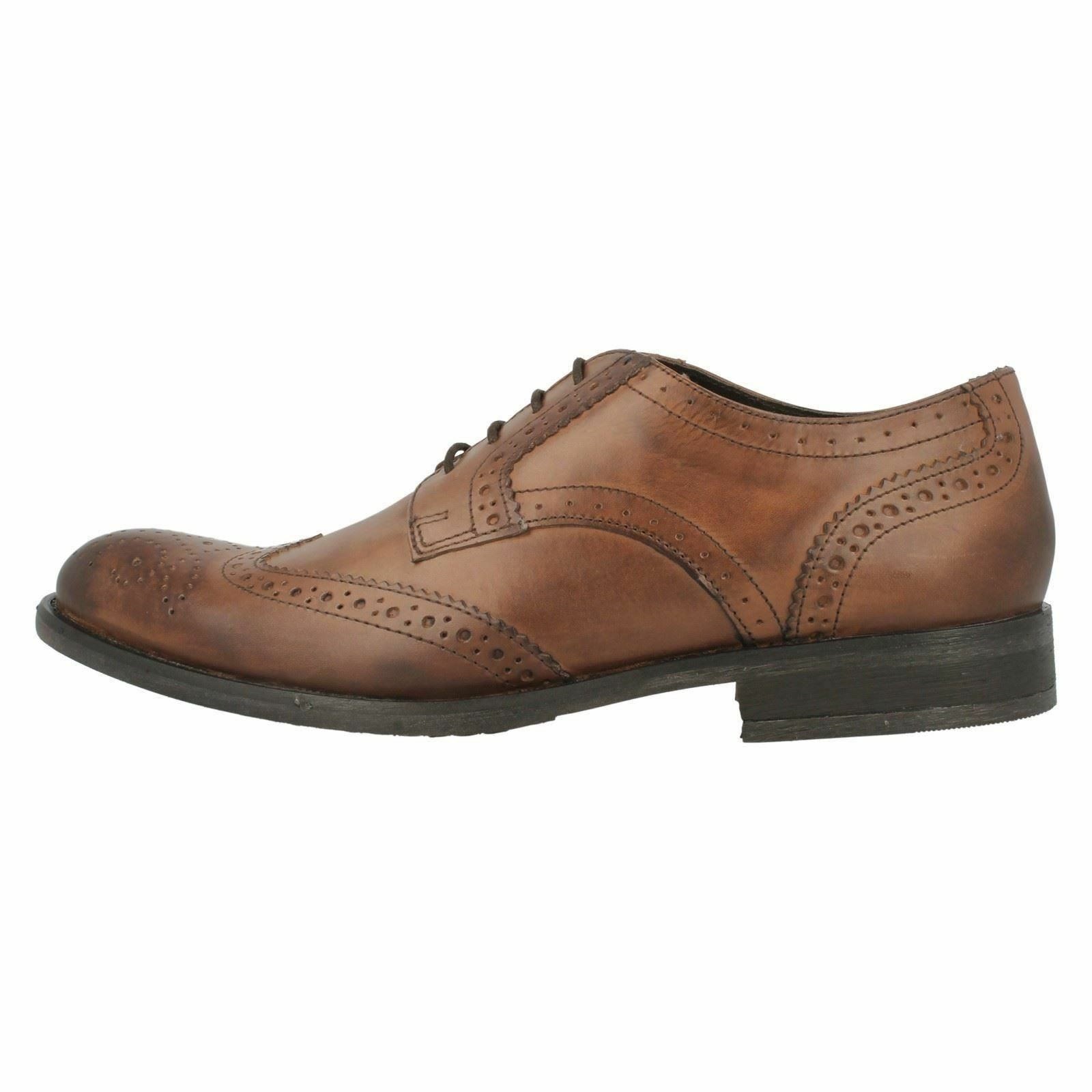 Base London Oak MTO Waxy Lace Leather Smart Brogue Style Lace Waxy Up Shoes c7d003