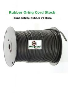 PRICED per Metre O Ring Cord Solid Rubber Black NBR Nitrile Buna 70 shore A