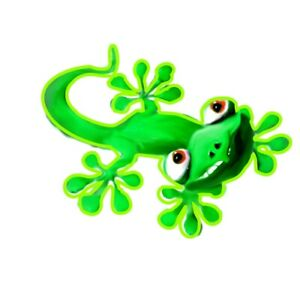 3d-Sticker-witziges-gruenes-Gecko-Auto-Van-SUV-Boot-Bik-Handy-Laptop-65-x-53-mm
